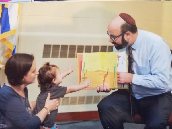 Temple Emanu-el's Rabbi Zerwekh's & Child