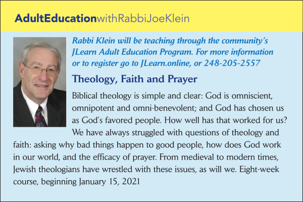 Adult Education with Rabbi Klein