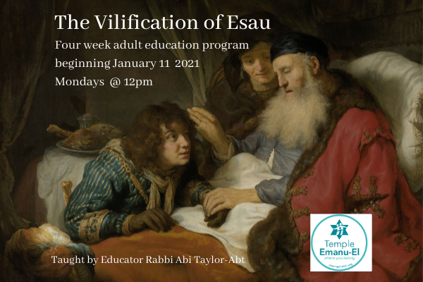 The Vilification of Esau